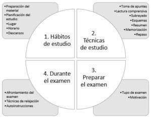 Interior hábitos de estudio Sagüés psicología Oviedo