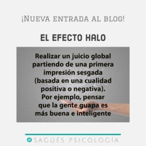 Efecto halo interior sagüés psicología Oviedo